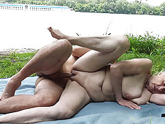 85 years old granny tricky time outdoor sex