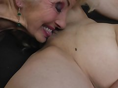 Iris V. in a hardcore lesbian threesome with her mature companions