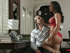 Horny stud Chad Alva makes his cheating busty sexpot suck his weasel words