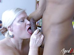 Horny British contaminate Lacey Starr is sexually attracted to black guys