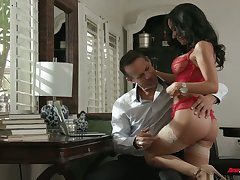 Chad Alva and his froends be crazy one super erotic juggy gripe in red underthings