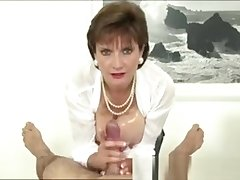 Laddie Sonia Rubs Cock All over Tits