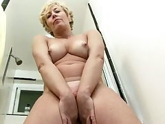 Delightful boobs playing session performed overwrought busty mature floosie Chanel