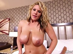 natural big tits MILF has POV dealings about hotel square