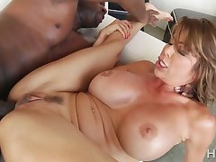 Astonishing big breasted MILF Alexis Fawx is analfucked unconnected with BBC owner